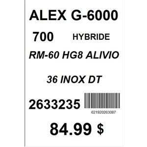 ROUE ARRIERE 700 ALEX G6000 HG8 36 RAYONS DT