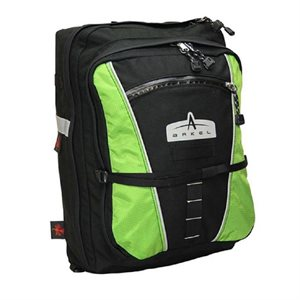 CONVERTIBLE BIKE PANNIER ARKEL PAPILLON 2.0 BLACK / LIME